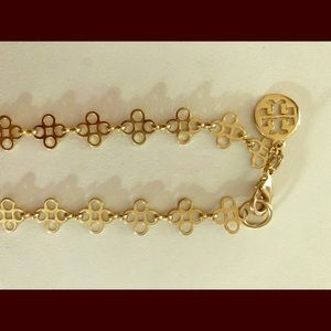 Tory Burch Gold Logo Necklace